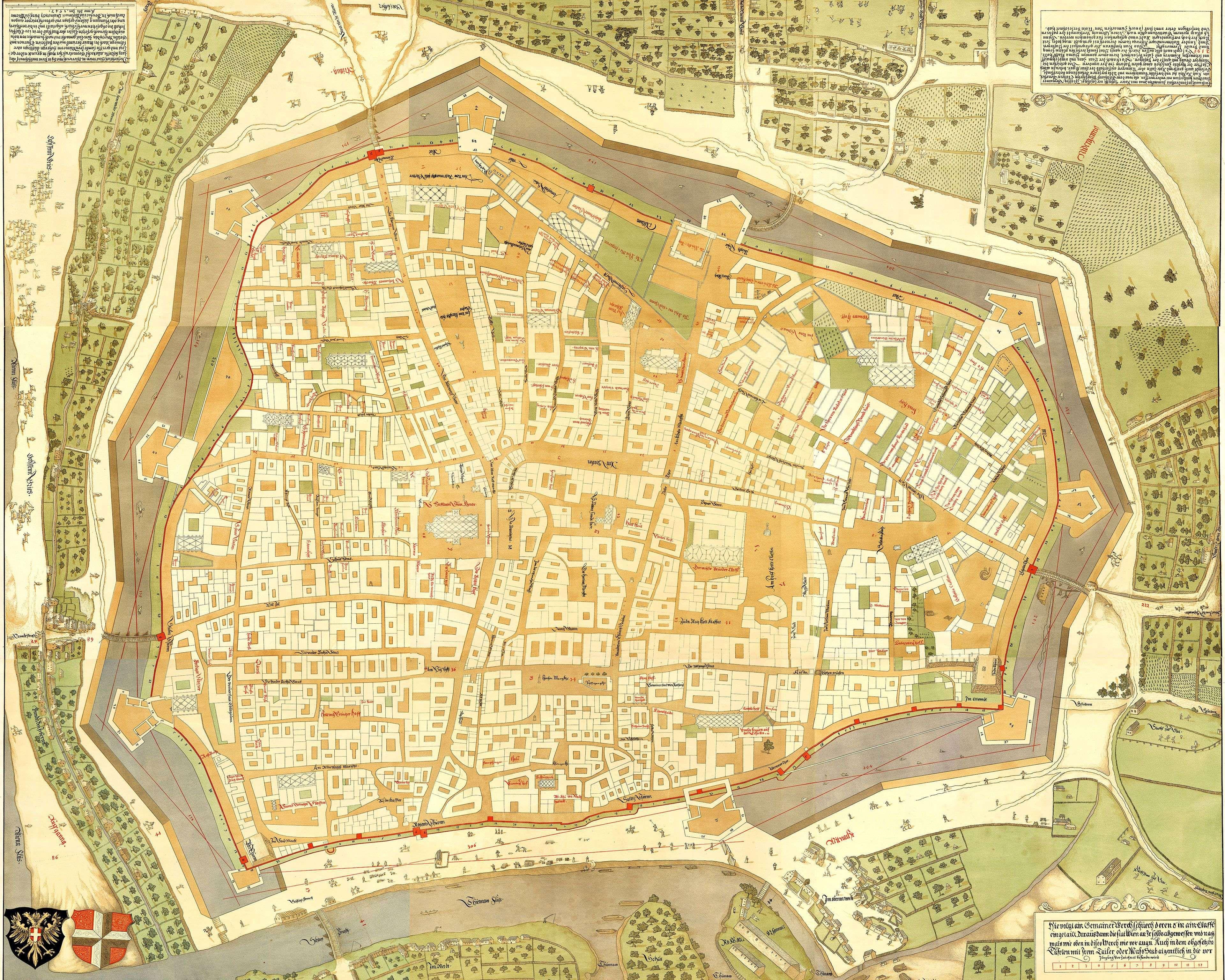 Plano de Viena de 1547 MAPAS PLANOS HISTRICOS Pinterest