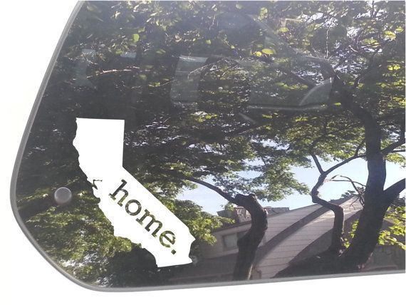 California Home State Vinyl Car Decal Sticker by InkDropsNVinyl, $5.50