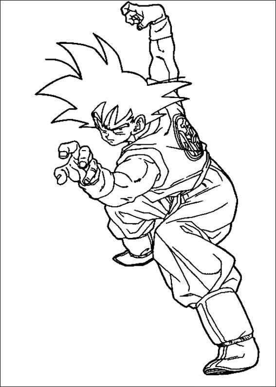 Coloriage Dessins. Dragon Ball Z 91 | mangas | Pinterest | Mi ...