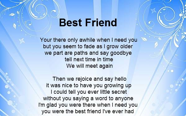Losing Your Best Friend Google Search: Poems About Friendship - Google Search
