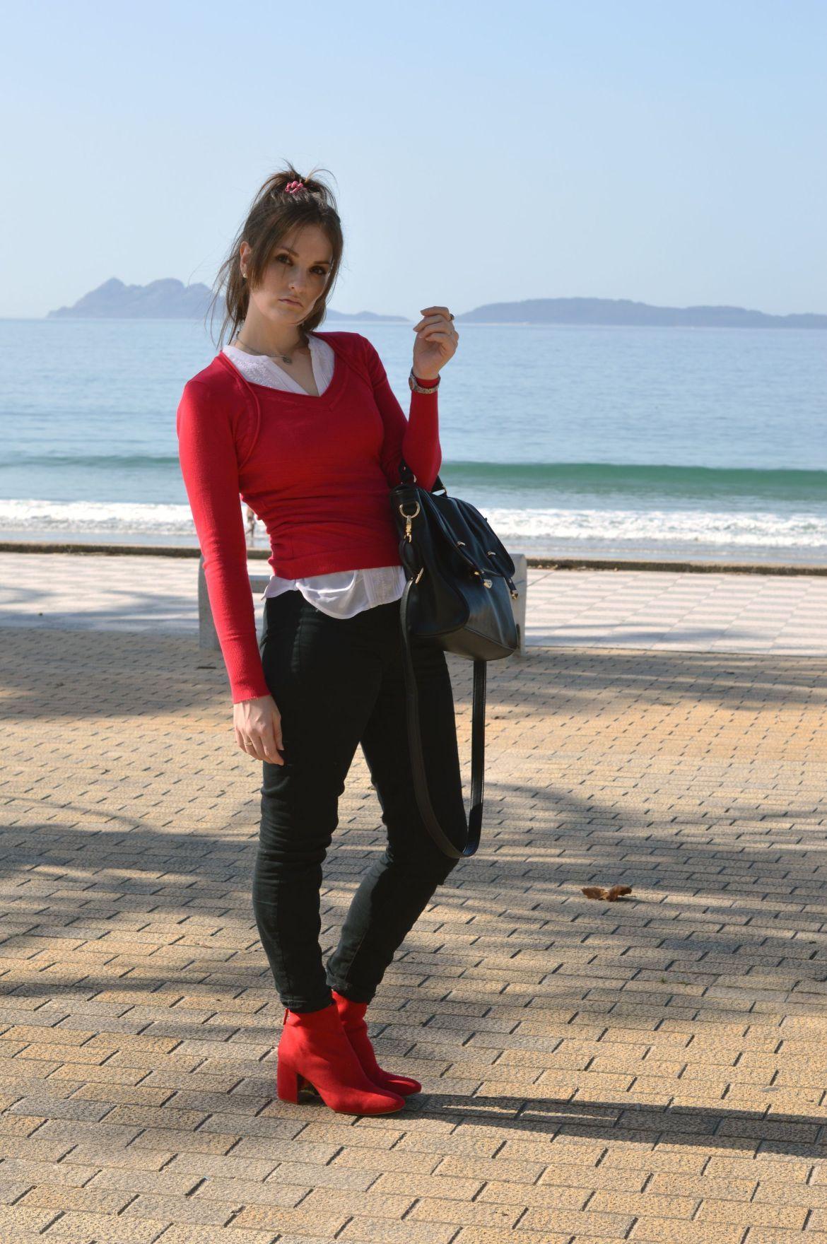 Para estrenar 100% de calidad zapatos de otoño De vuelta! | Outfits con zapatos rojos, Ropa y Botines rojos