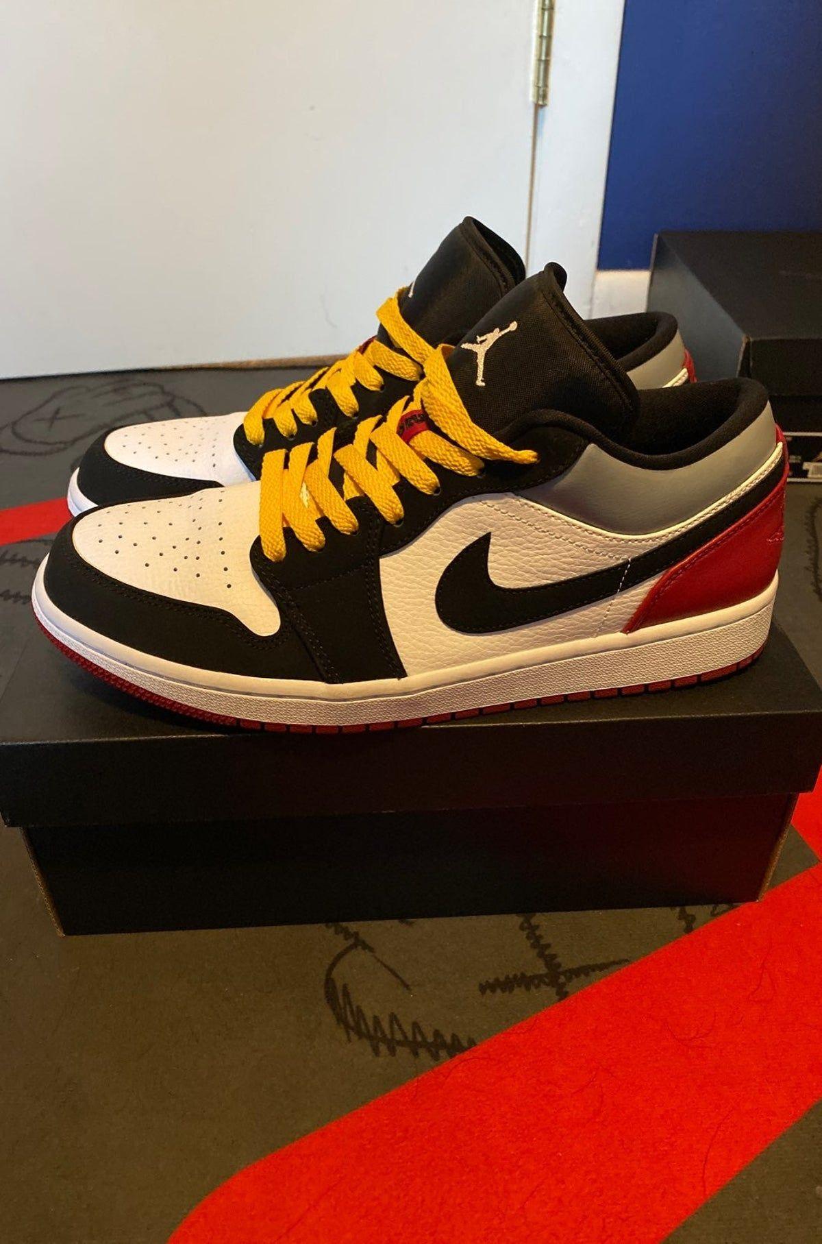 Custom Jordan 1 Low Union Black in 2020