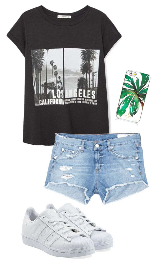 """Sunday"" by ariel-1017 on Polyvore featuring MANGO, rag & bone/JEAN, adidas Originals and Kate Spade"