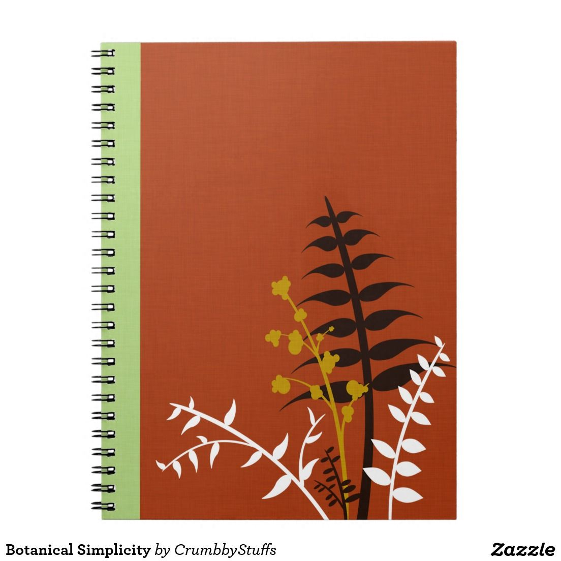 Botanical Simplicity Spiral Notebooks
