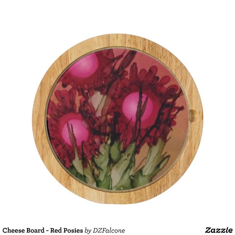 Cheese Board - Red Posies