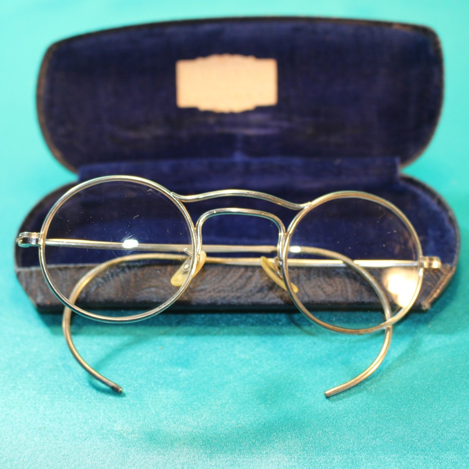 Vintage Stainless Steel Wire Frame Eyeglasses Round Clear Lens ...