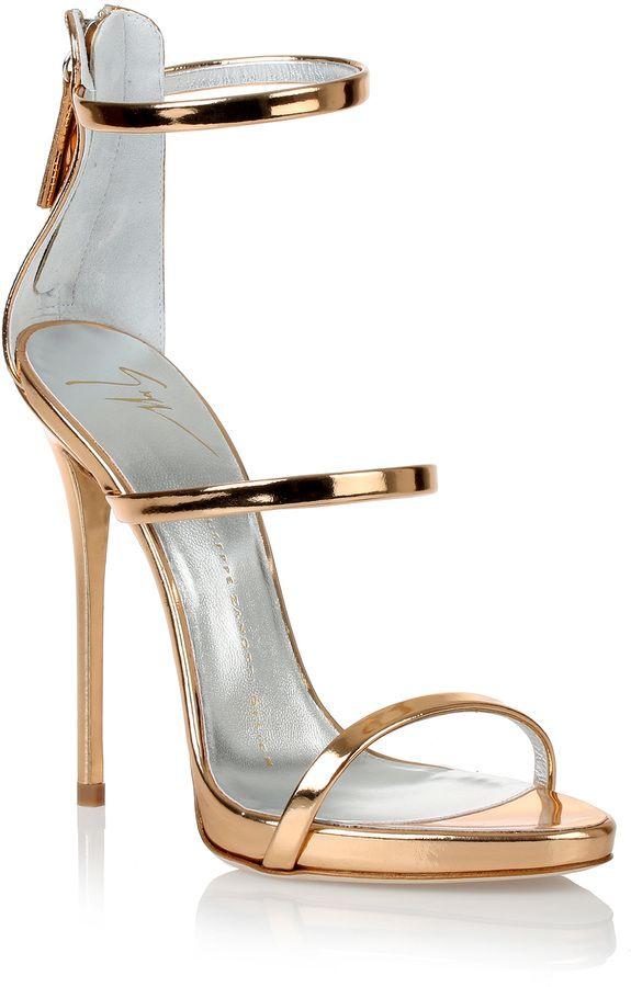 d547fa733ab Giuseppe Zanotti Metallic rose gold sandal