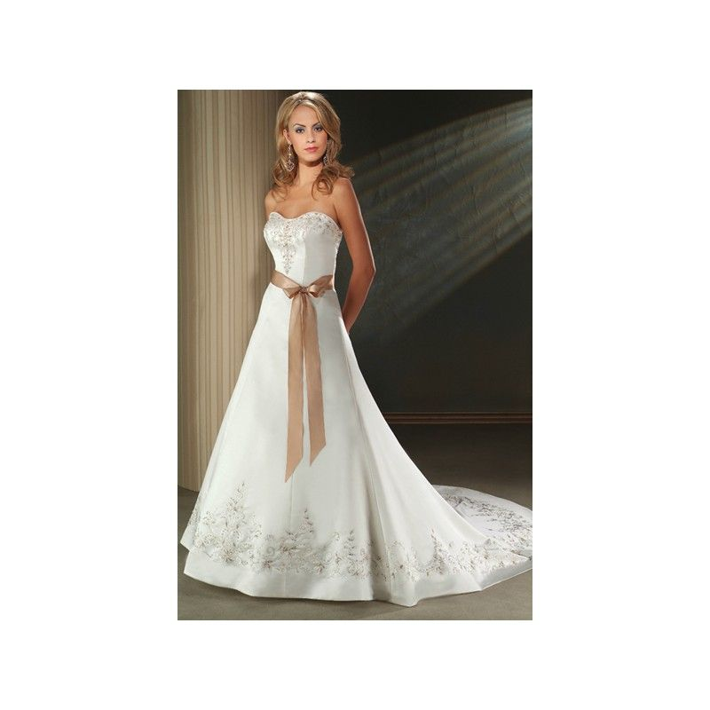 Colored Wedding Dresses With Champagne Ivory Gold Color Belt Hiwdc