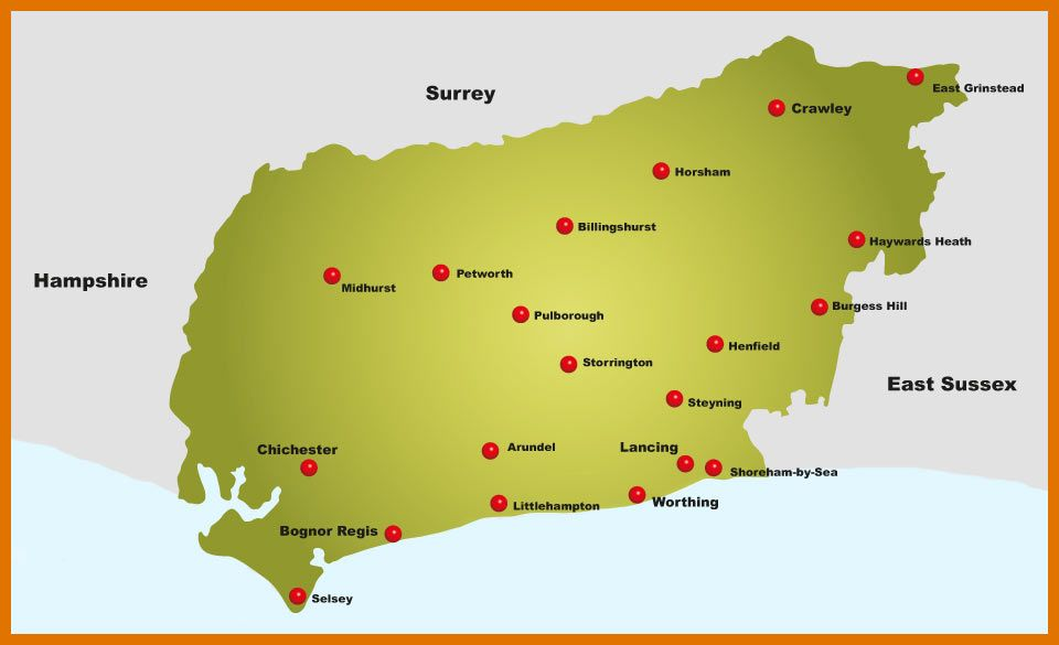 map of kent and west sussex