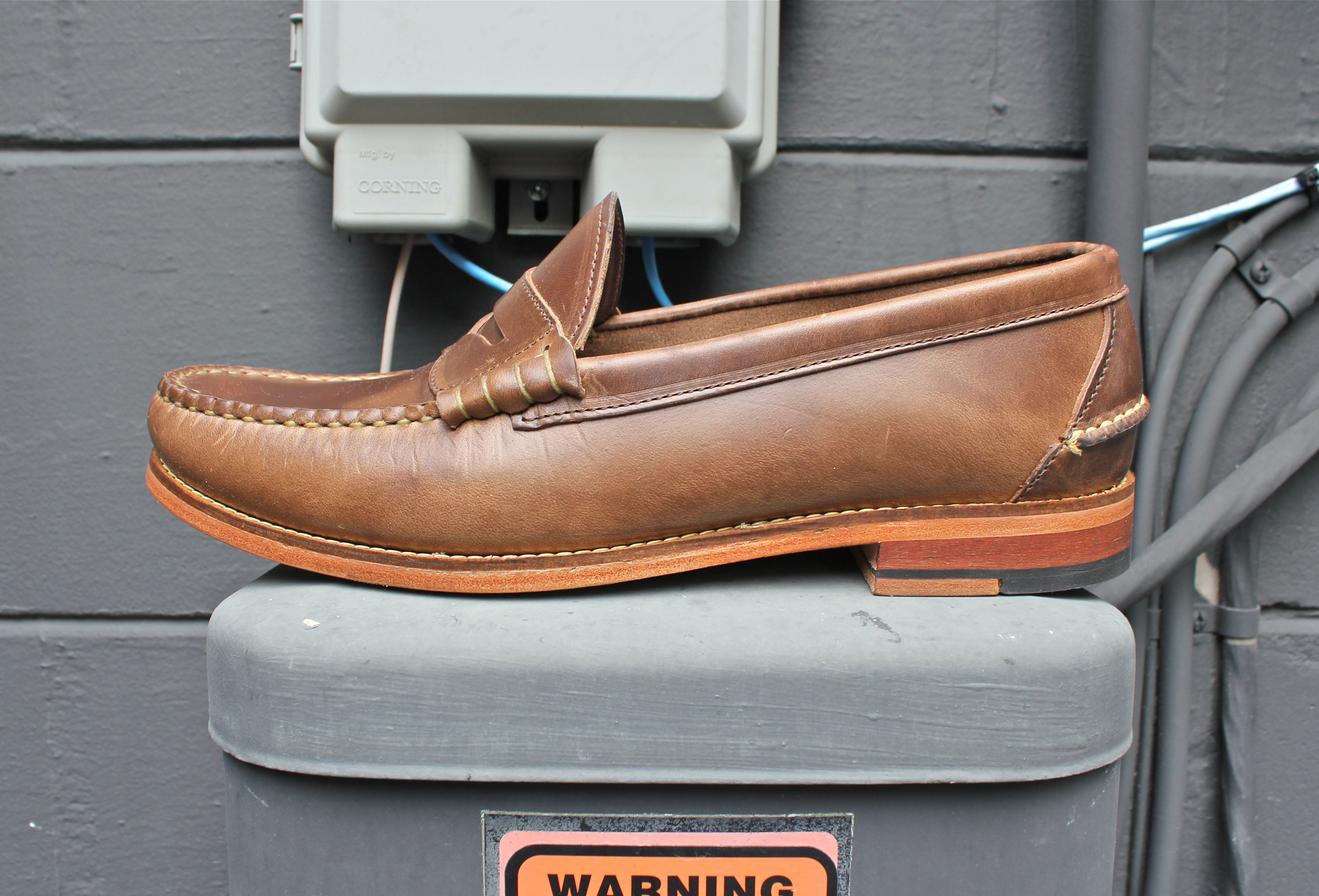 b75c70236c5 Beefroll penny loafers in natural chromexcel by Oak Street Bootmakers. One  of our faves!