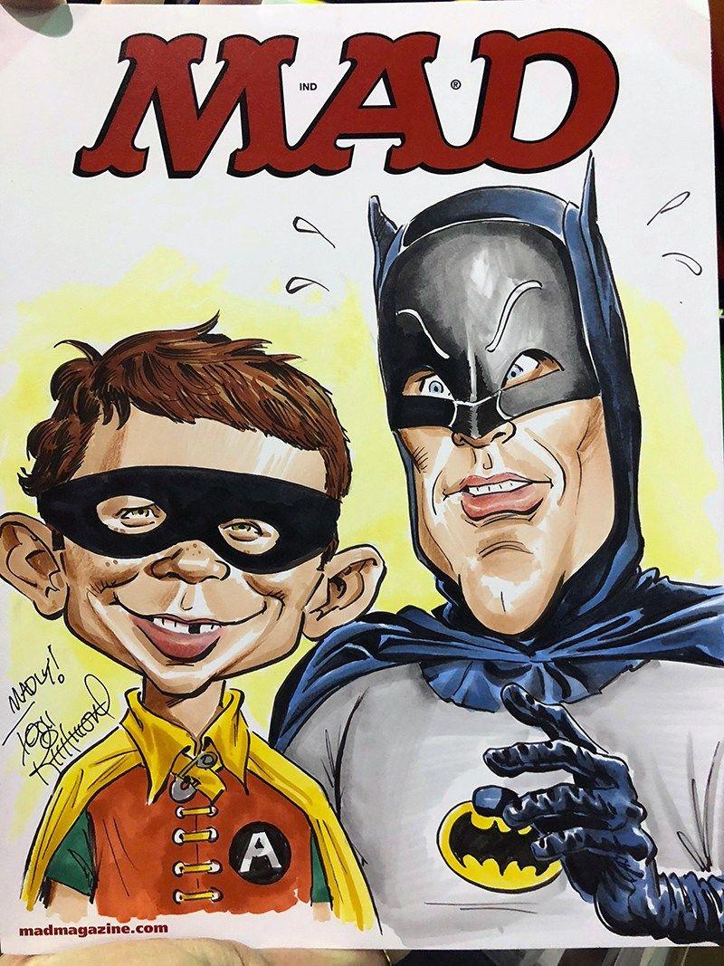 Chicago comiccon commissions mad magazine caricature