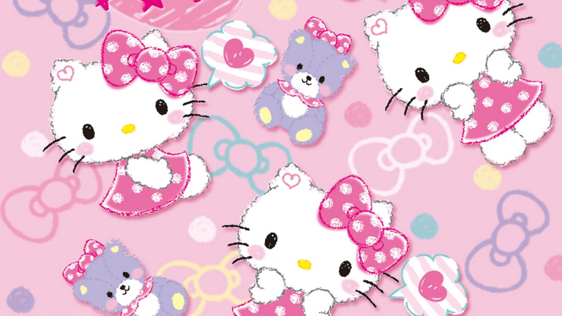 Hello Kitty Characters Background Wallpaper Hd 2020 Live Wallpaper Hd Hello Kitty Backgrounds Hello Kitty Pictures Hello Kitty Images