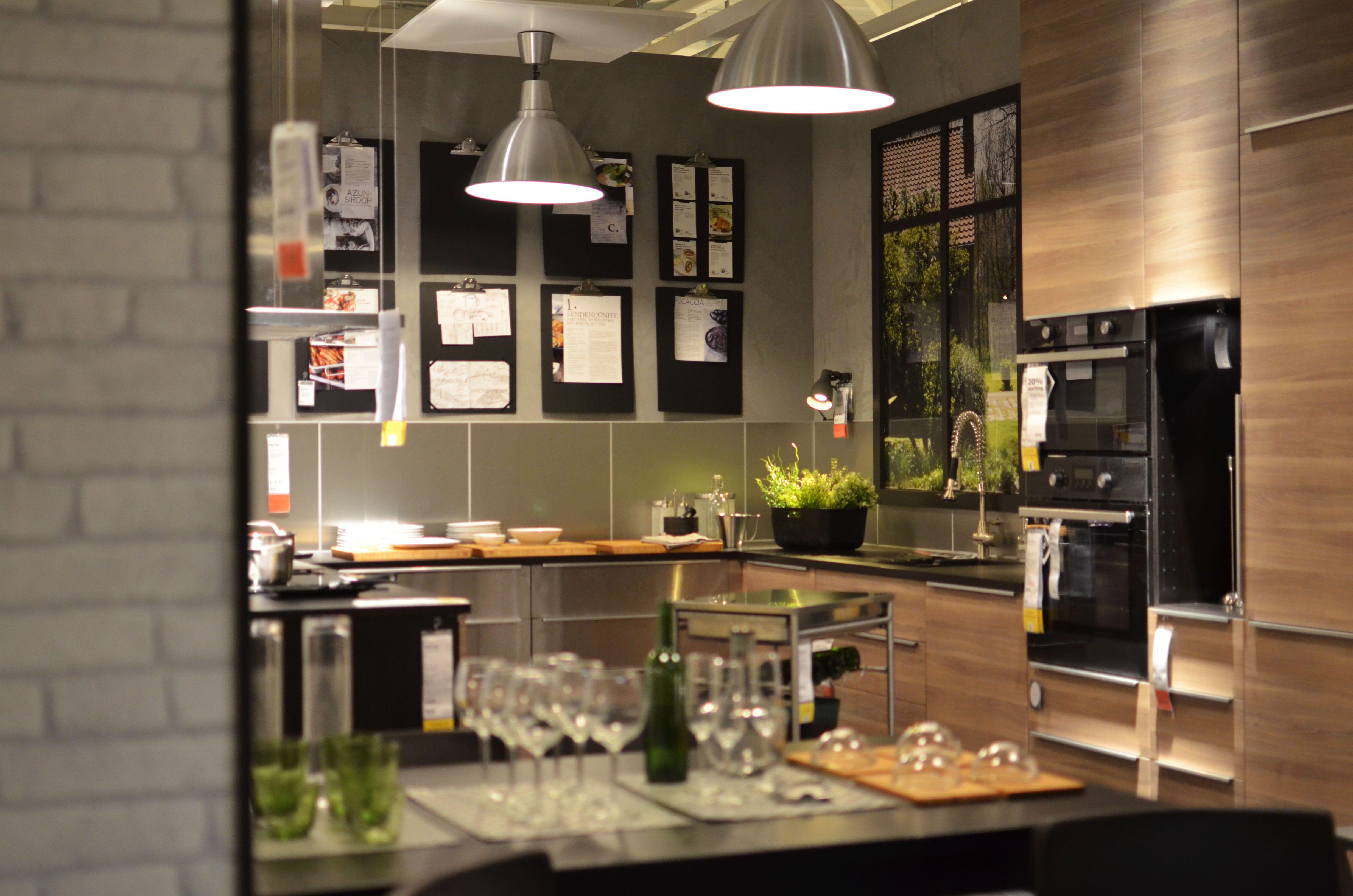 IKEA Delft | METOD Kitchen | BROKHULT Walnut | GREVSTA Stainless Steel |  Recipe Wall |