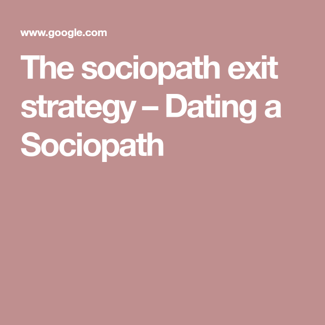 can a sociopath dating another sociopath