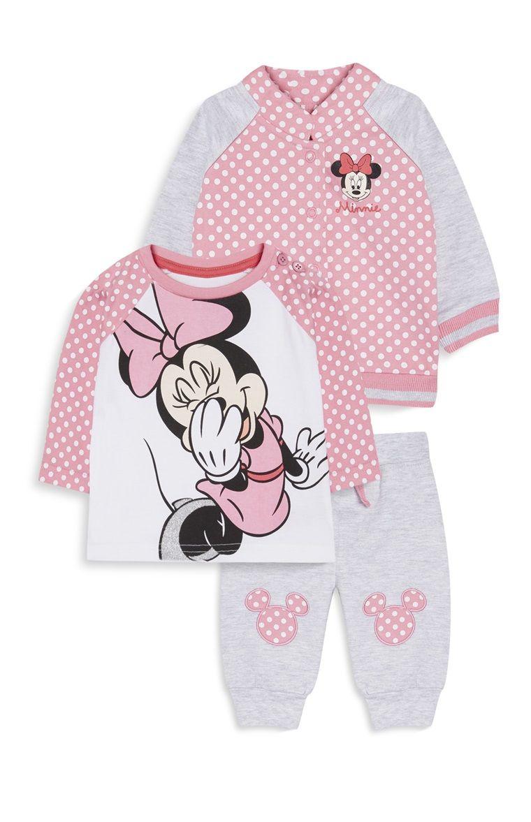 Conjunto de Minnie Mouse recién nacida Pijamas Para Niñas 3ea019e68c2