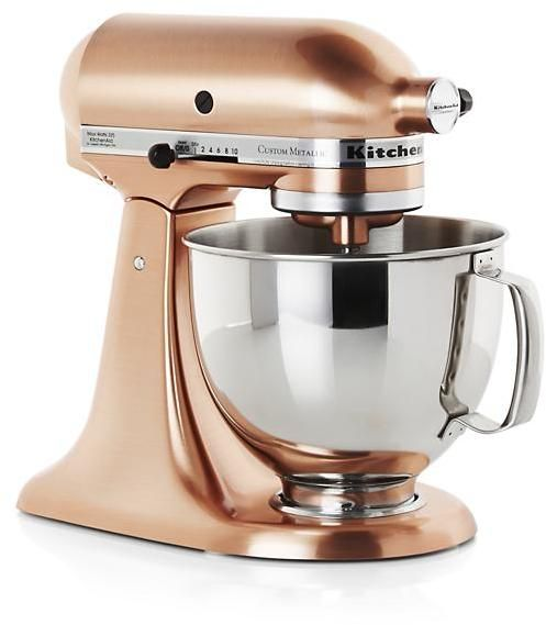 kitchenaid copper metallic series stand mixer isn t it lovely rh pinterest com