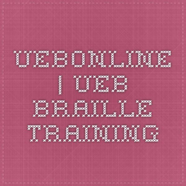 UEB Braille Training Braille Pinterest Higher education - free training certificates