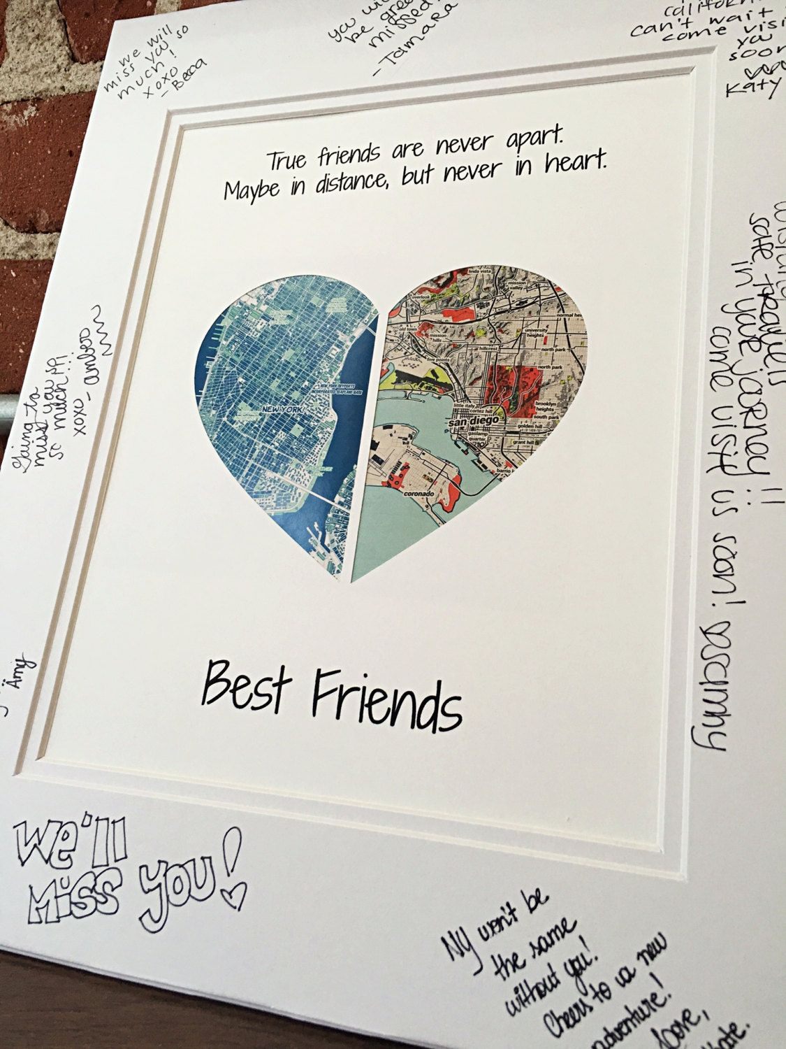 True Friends Are Never Apart Going Away Present For Friends