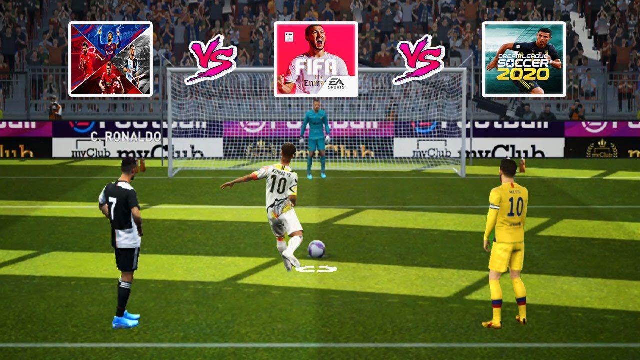 Pes 2020 Mobile Vs Dls 20 Vs Fifa 20 Mobile Realistic Penalty