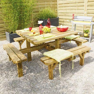 Table pique nique en bois massif Octave - Forest-Style Matériau