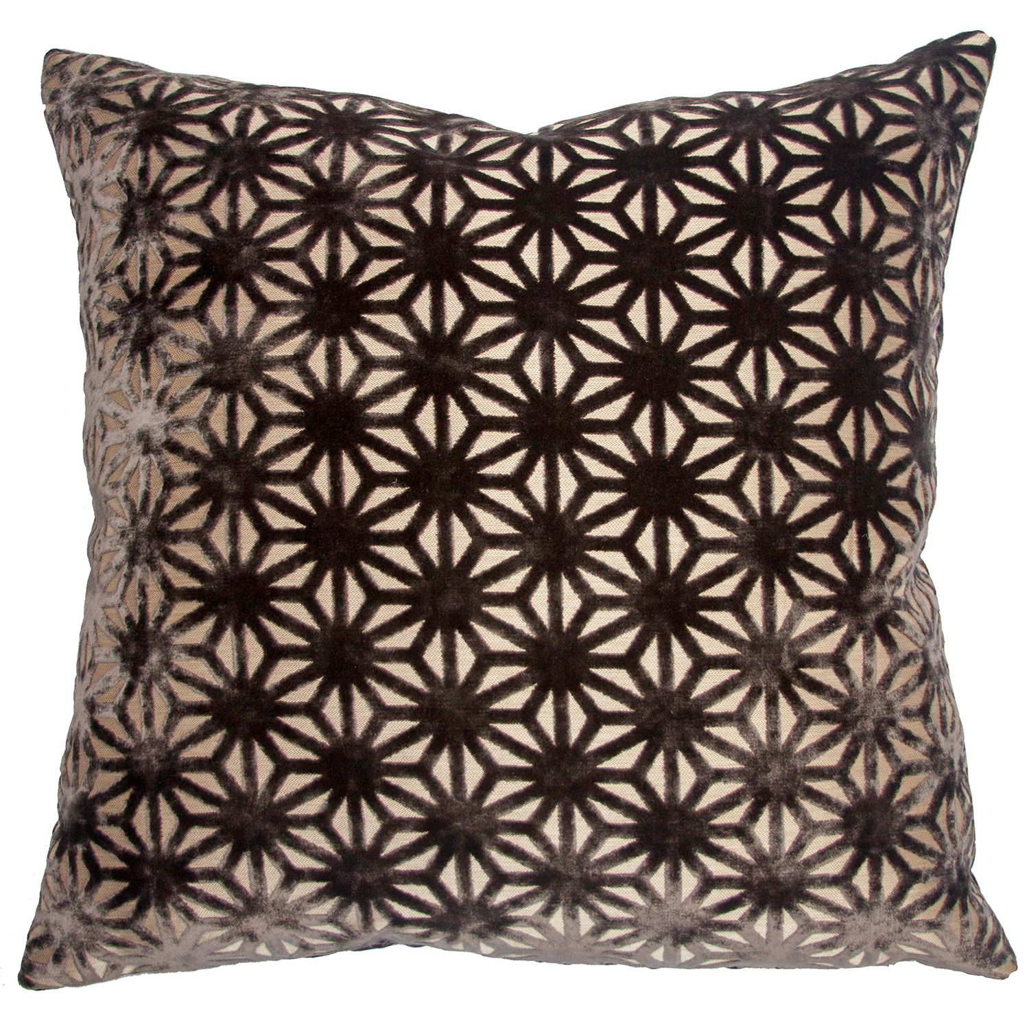 The Square Feathers Milan Stars throw pillow awakens neutral tones ... - The Square Feathers Milan Stars throw pillow awakens neutral tones with  bold graphic design. A
