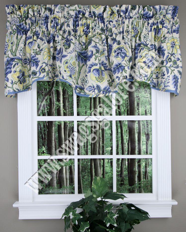 Imperial Dress Valance Porcelain Waverly Waverly Curtains Curtains Waverly Curtains Valance