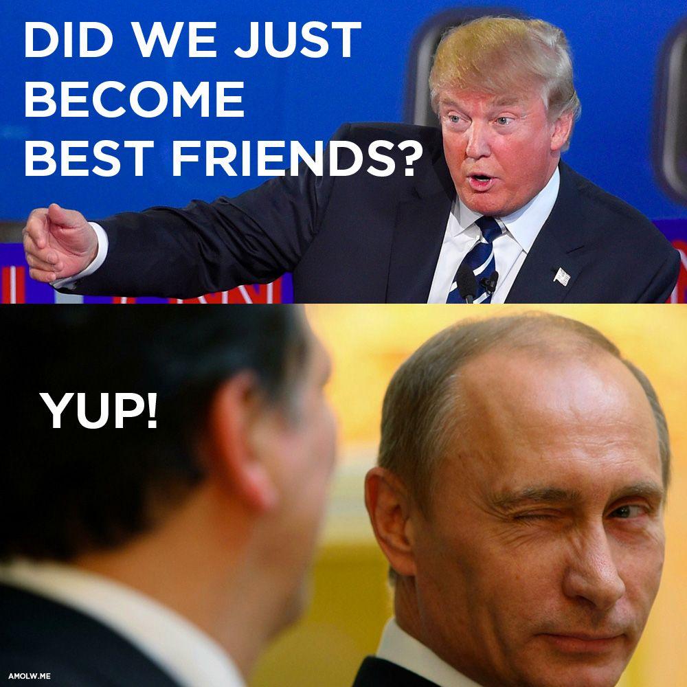 Stepbrothers: Trump and Putin | Memes, Jokes, Best friends