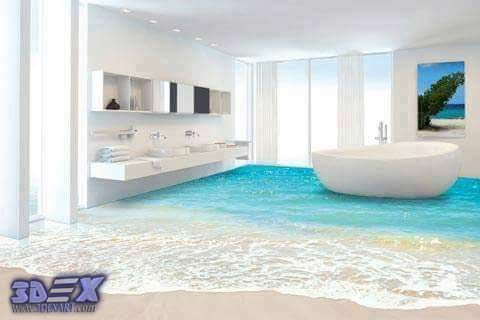 Charmant 3d Bathroom Floor And 3d Self Leveling Flooring, 3d Epoxy Floors What Is 3d Bathroom  Floor, And How To Make 3d Self Leveling Floor In The Bathroom Step By ...