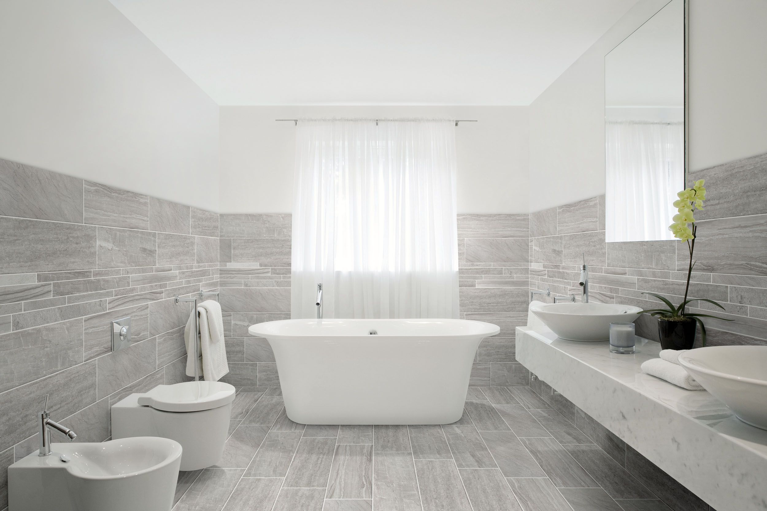 Wood Looking Tile Bathroom Porcelain Tile With Mixed Look Of Wood Stone And Concrete From