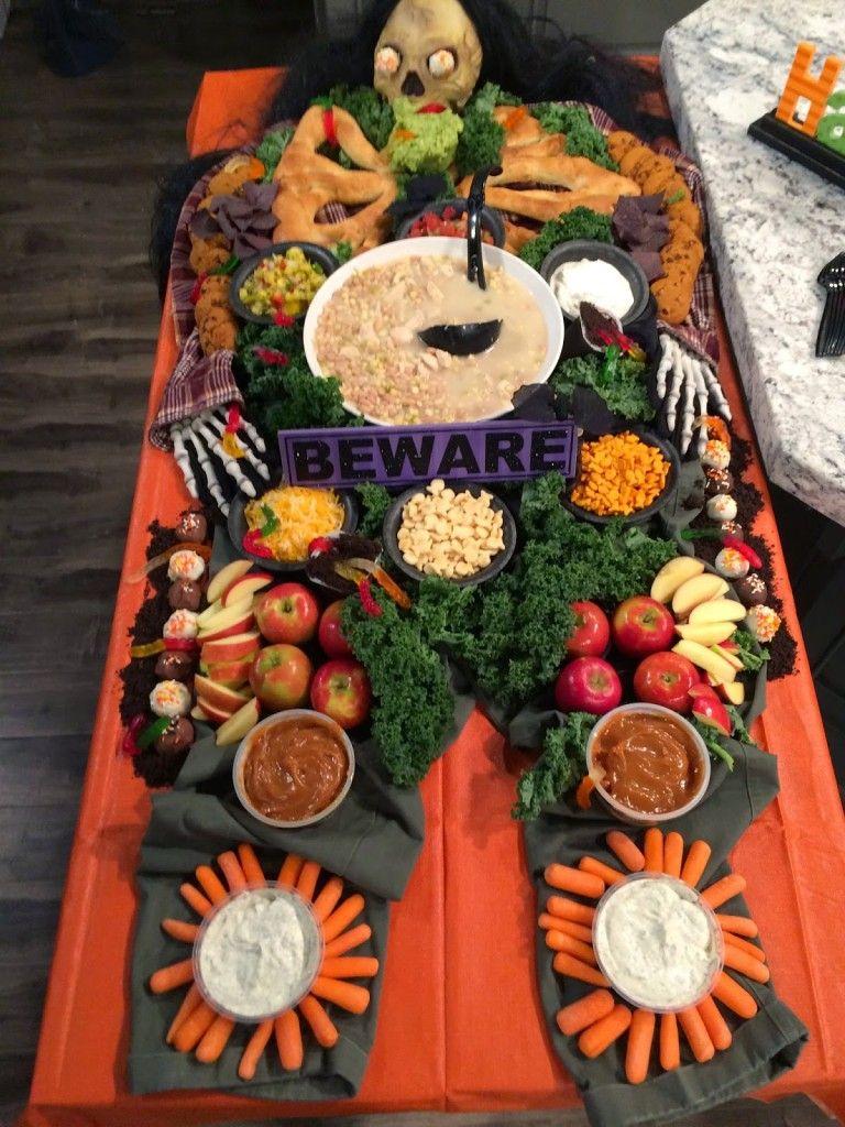 White Chicken Chili & Dead Man's Dinner for Halloween