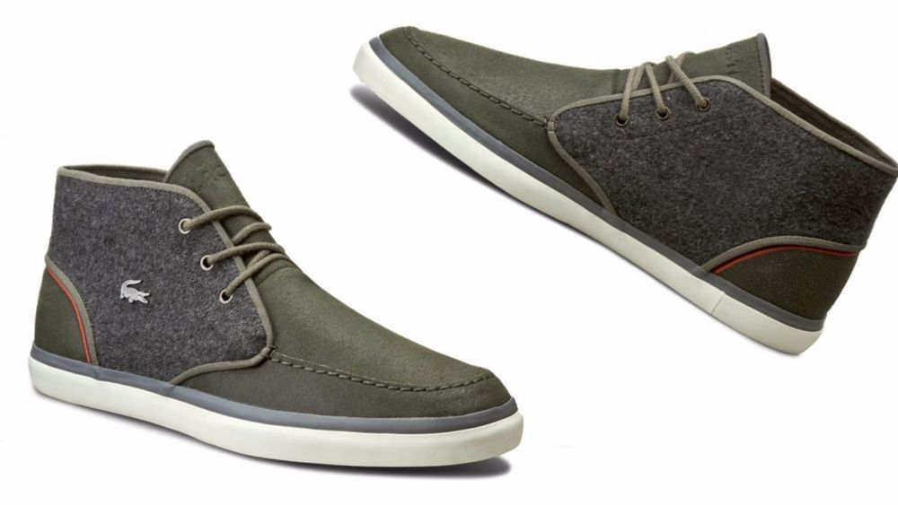 Sevrin Mid Leather Trainers - Grey Lacoste FLIgm
