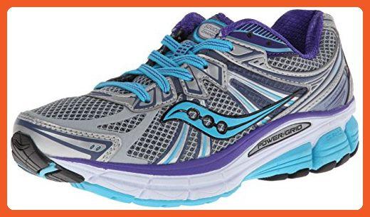 d34e16929ed47 Saucony Women's Omni 13 Running Shoe,Silver/Blue/Purple,7.5 W US ...