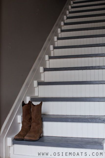 Behr Porch And Patio Paint Quart: Behr's Gloss Patio And Porch Floor Paint On The Stair