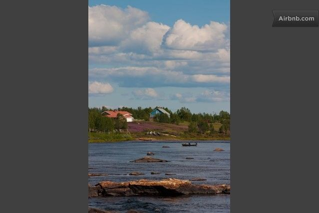 Grand vistas of the border river between Finland and Sweden