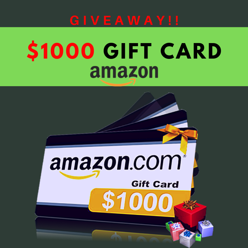 Giveaway to get you free Amazon gift card of $1000 These sites will
