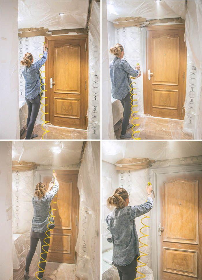 Puertas pintadas cc diy pinterest puertas pintadas for Pintar puertas