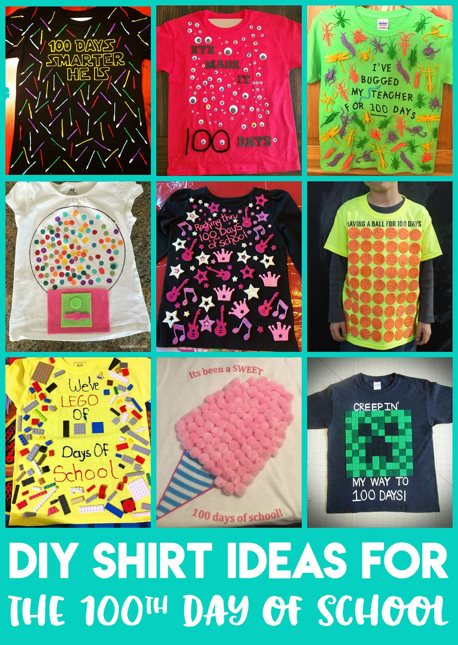 100 Days Of School Shirt Ideas With Images 100 Day Of School
