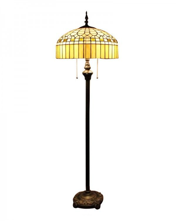 Tiffany style floor lamp metal base stained glass shade home tiffany style floor lamp metal base stained glass shade aloadofball Images