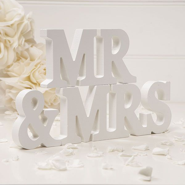 Mr Mrs Wooden Sign And Freestanding Words Wedding Letters