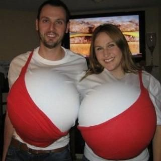 Funny Couple Halloween Costumes. A couple did this at Barrera's party last year. #funnyhalloweencostumes
