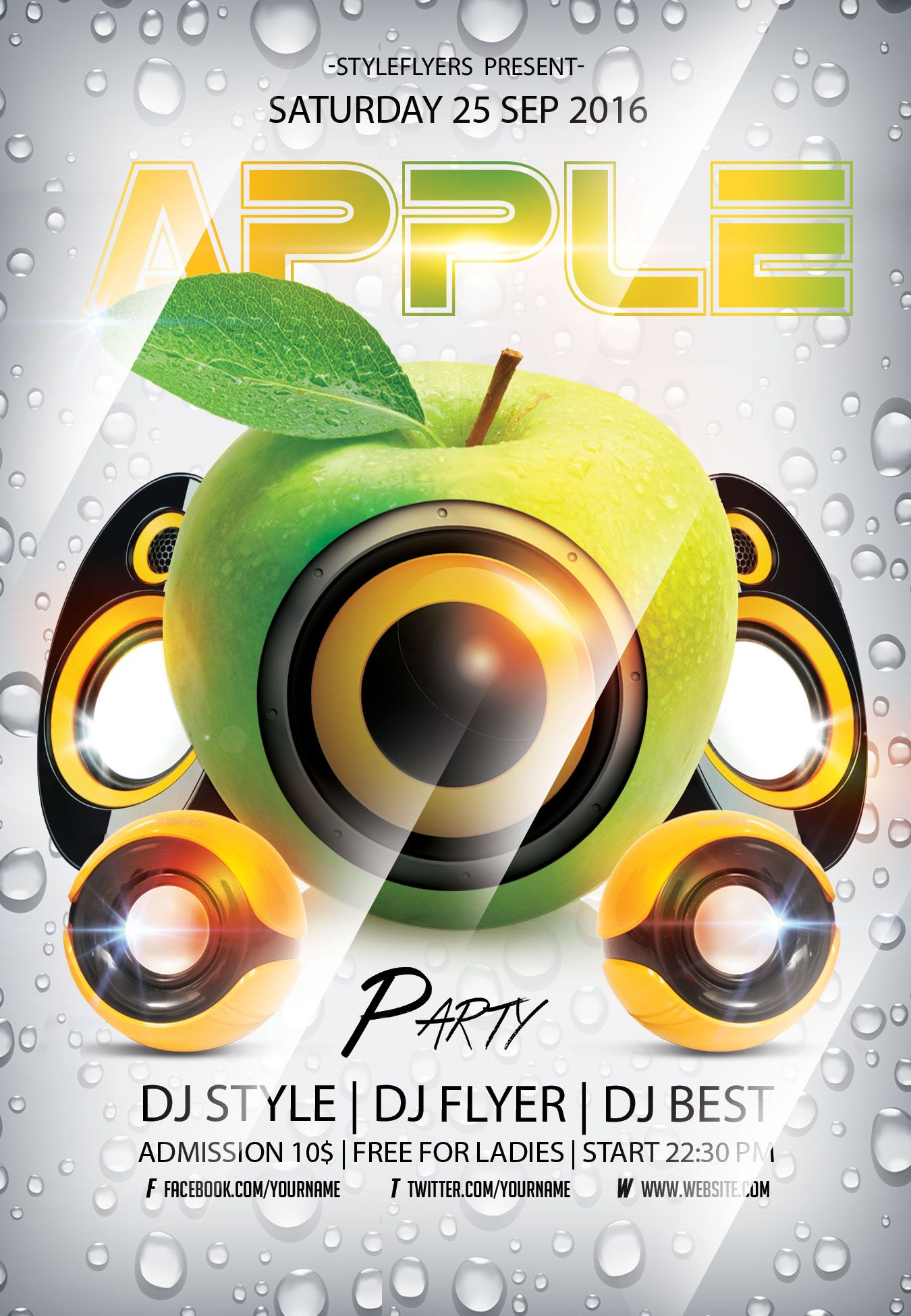 Pin by styleflyersstyleactions on flyers pinterest party flyer apple party flyer free download 3251 saigontimesfo