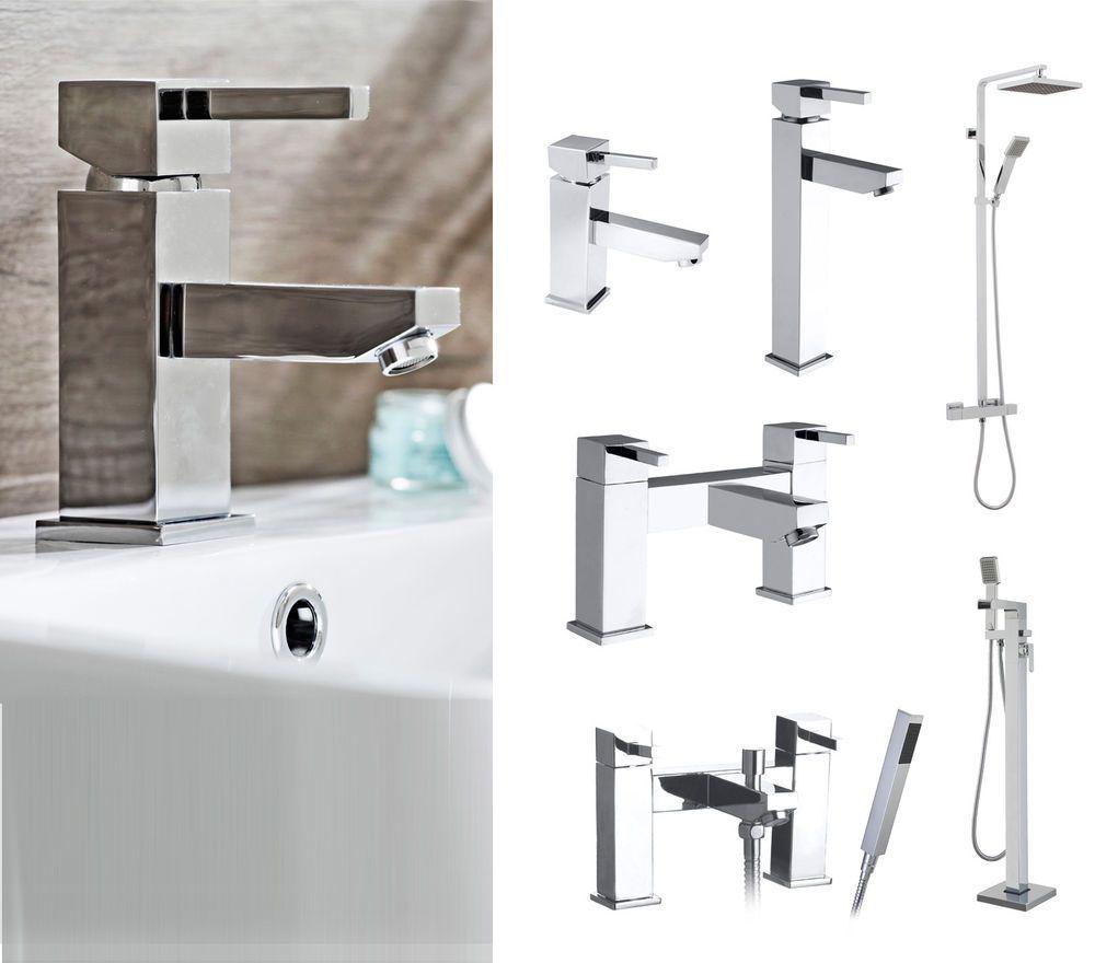 Details About Blok Chrome Bathroom Taps, Basin Mixer Taps
