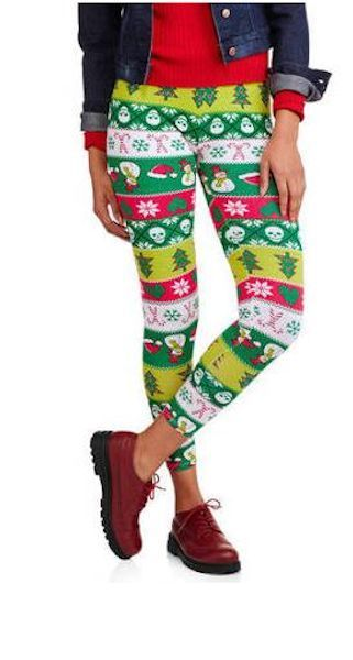 Snowmen and Candy Canes Kids Leggings