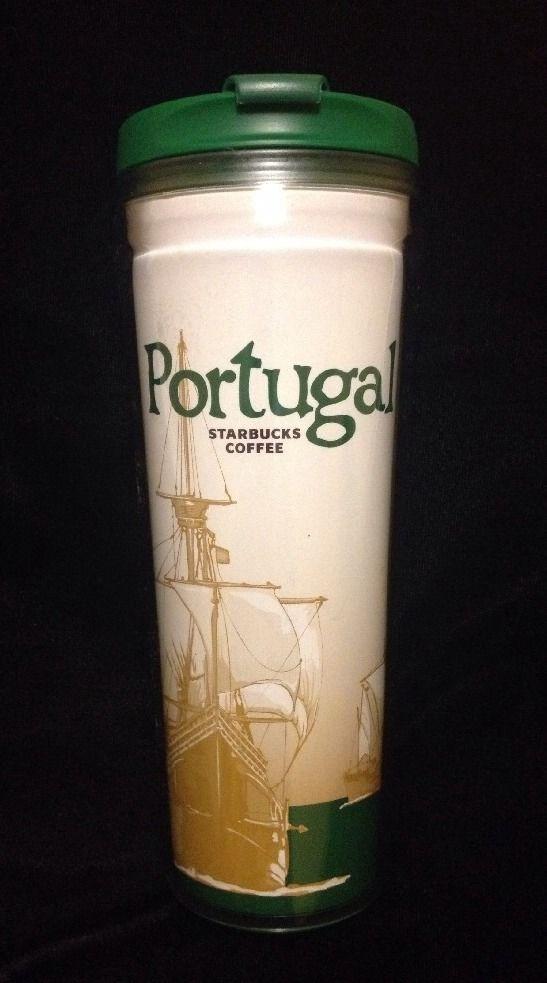 2def244ba16 Starbucks Portugal Tumbler Mug Carrack Ship Green No Cross Icon New ...