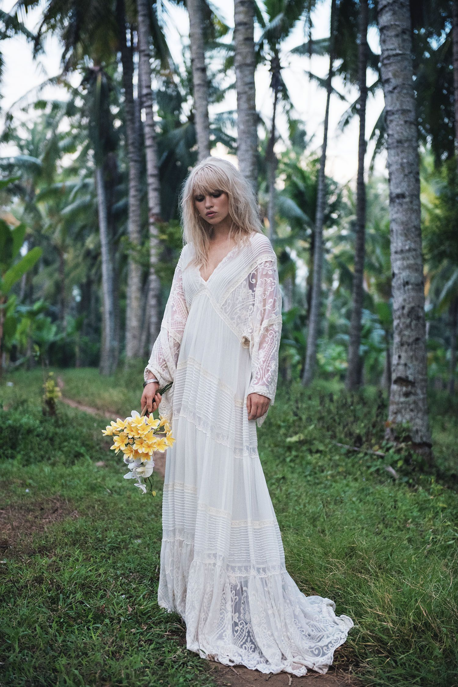 Spl 1696 Affordable Bohemian Wedding Dress Boho Wedding Dress Whimsical Wedding Gown