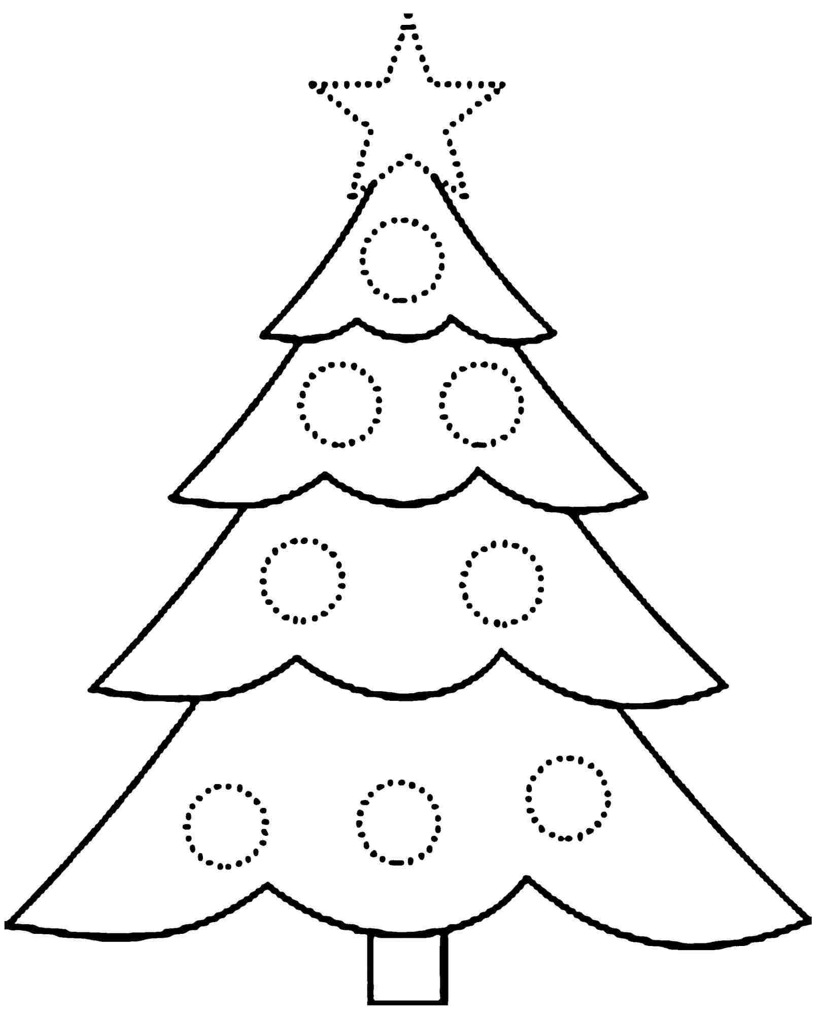 Printable Christmas Tree Coloring Pages In Of Trees In