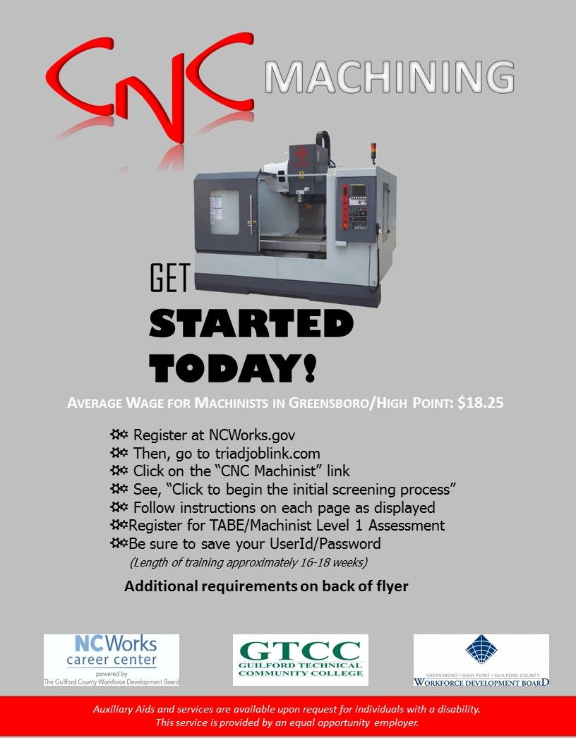 Cnc Flyer Page 1 Career Development Resume Writing Cnc Machinist
