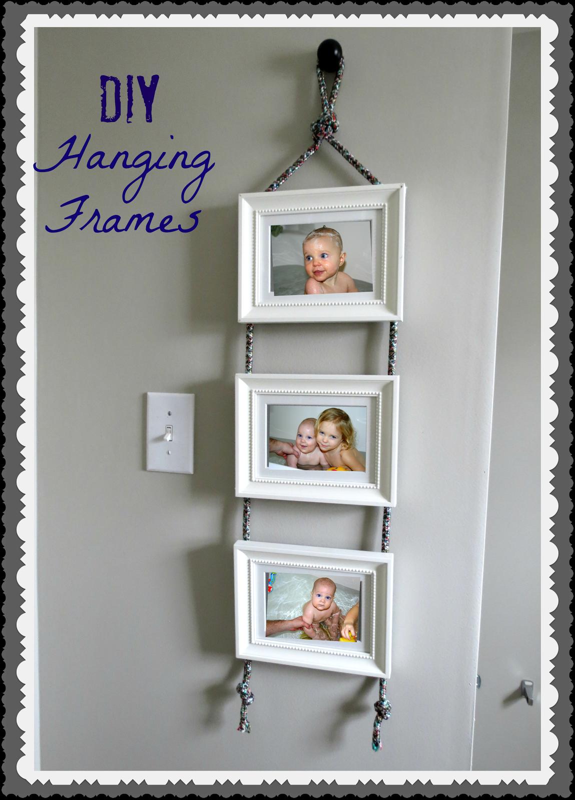 Diy Hanging Frames Tutorial Diy Picture Frames Diy Hanging