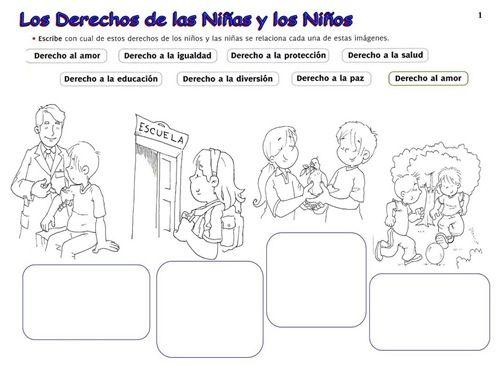 Actividades Sobre Los Derechos De Los Niños Buscar Con Google Derechos De Los Niños Obligaciones Del Niño Derechos Humanos Para Niños