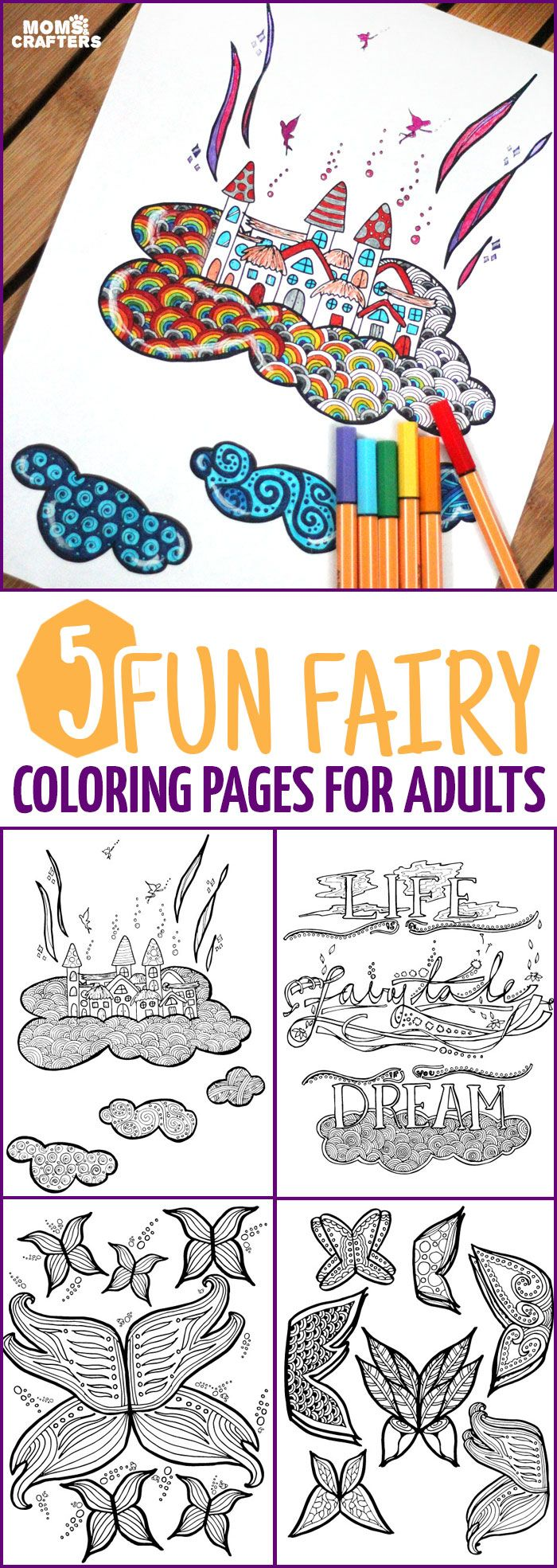 Youull love coloring these fairy coloring pages find color adult